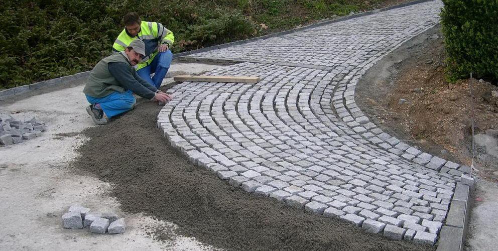 Pose de paves granit resize erga bazalt - Pose pave autobloquant sur lit de sable ...