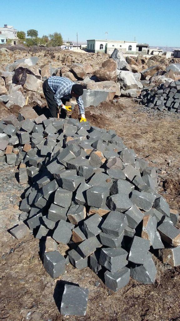 Ankara Bazalt küp taş döşeme